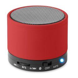 Boxa rotunda Bluetooth, materiale multiple, red