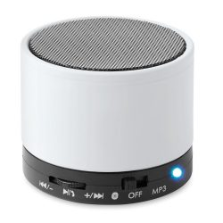 Boxa rotunda Bluetooth, materiale multiple, white