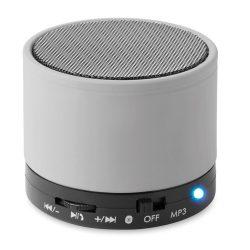Boxa rotunda Bluetooth, materiale multiple, matt silver