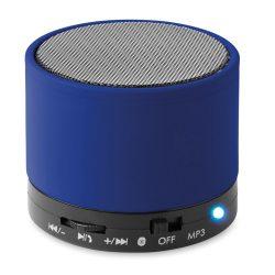 Boxa rotunda Bluetooth, materiale multiple, royal blue