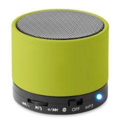 Boxa rotunda Bluetooth, materiale multiple, lime