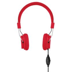 Casti audio, Plastic, red
