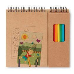 Set de desenat cu carnet, Paper, beige
