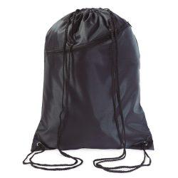 Saculet larg, inchidere cu snur, poliester 190T, Everestus, 8IA19050, negru, eticheta de bagaj inclusa