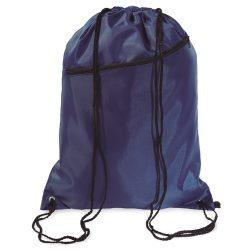 Saculet larg, inchidere cu snur, poliester 190T, Everestus, 8IA19051, albastru, eticheta de bagaj inclusa
