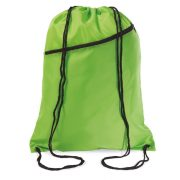 Saculet larg, inchidere cu snur, poliester 190T, Everestus, 8IA19052, verde lime