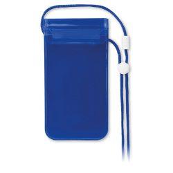 Husa impermeabila smartphone, PVC, transparent blue