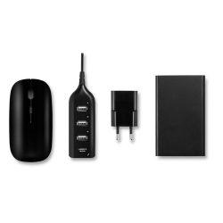 Set accesorii pentru calculator, materiale multiple, black