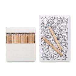 Set de colorat pentru adulti, materiale multiple, white