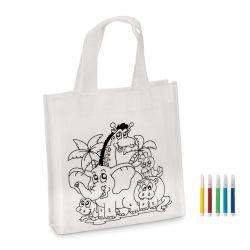 Mini-geanta cumparaturi, netesut, white