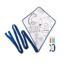 Zmeu pentru copii cu 4 carioci, 39x49 cm, Everestus, 20SEP1225, Poliester, Albastru