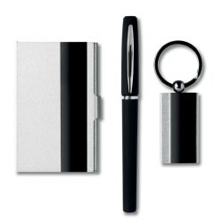 Set birou, materiale multiple, black