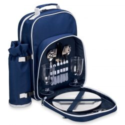 Rucsac picnic termoizolant pentru 2 persoane, 600D poliester, Everestus, CP5, albastru