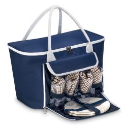 Rucsac picnic 4 persoane, 600D poliester, blue