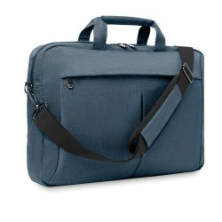 Geanta laptop 360D in 2 nuante, poliester, blue