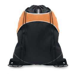Sac cu cordon din 2 materiale, poliester, orange