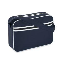 Geanta documente, cusaturi albe, Everestus, PS02, poliester 600D, albastru, saculet de calatorie si eticheta bagaj incluse