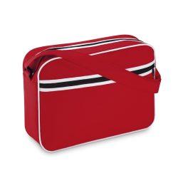 Geanta documente, cusaturi albe, Everestus, PS03, poliester 600D, rosu, saculet de calatorie si eticheta bagaj incluse