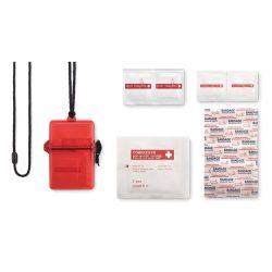 Trusa ajutor impermeabila, materiale multiple, transparent red