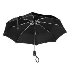 Umbrela pliabila 21 inch, deschidere si inchidere automata, nilon 190T, poliester, Everestus, UP17, alb