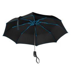Umbrela pliabila 21 inch, deschidere si inchidere automata, nilon 190T, poliester, Everestus, UP16, albastru royal