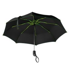 Umbrela pliabila 21 inch, deschidere si inchidere automata, nilon 190T, poliester, Everestus, UP13, verde lime