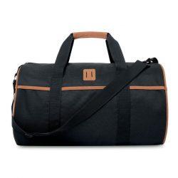 Geanta marinareasca de umar, Everestus, GU02, poliester 1000D, negru, saculet de calatorie si eticheta bagaj incluse