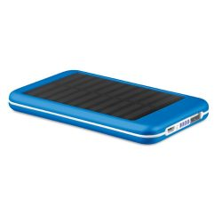 Baterie externa solara 4000mAh, materiale multiple, royal blue