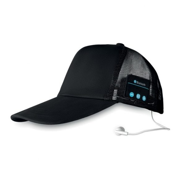 Capac Bluetooth cu casti, materiale multiple, black