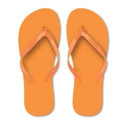 Slapi din polietilena, Plastic, orange, L