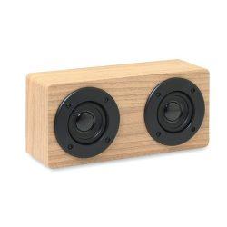 Boxa bluetooth 2x3W 400 mAh, materiale multiple, wood
