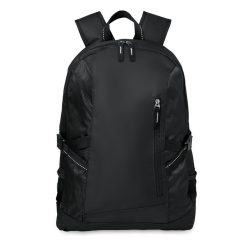 Rucsac poliester Laptop 15 inch, Everestus, GL28, negru, saculet de calatorie si eticheta bagaj incluse