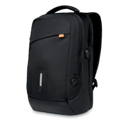 Rucsac si Baterie externa, materiale multiple, black