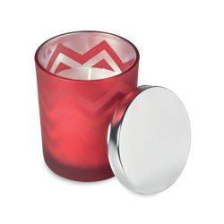Lumanare parfumata fresh, Everestus LPD01, sticla, rosu, laveta inclusa