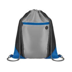 Saculet cu buzunar frontal cu fermoar, poliester, Everestus, 8IA19080, albastru royal, eticheta de bagaj inclusa