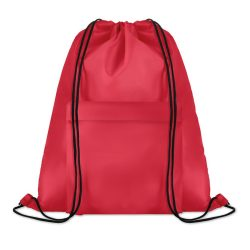 Sac mare cu cordon, poliester, red