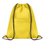 Sac mare cu cordon, poliester, yellow