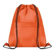 Sac mare cu cordon, poliester, orange