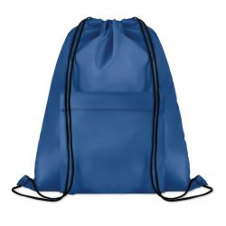 Sac mare cu cordon, poliester, royal blue