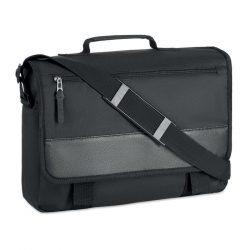 Geanta laptop 600D in 2 nuante, poliester, black