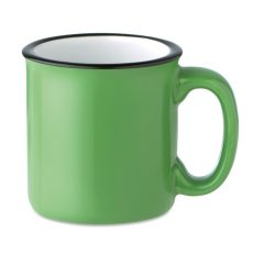 Cana ceramica retro, Stoneware, green