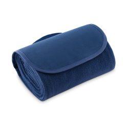 Paturica picnic pliabila din lana 135x120 cm, Everestus, PA29, albastru, saculet de calatorie inclus