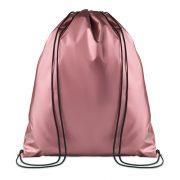 Sac cu cordon laminat, poliester, pink