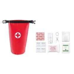 Trusa de prim ajutor, poliester, Everestus, TSPA06, rosu, saculet de calatorie inclus