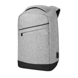 Rucsac cu bretele buretate, compartiment Laptop 13 inch, poliester 600D, Everestus, RU42, gri, saculet si eticheta bagaj incluse