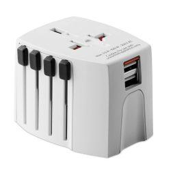 MUV USB. 2-pole, materiale multiple, white