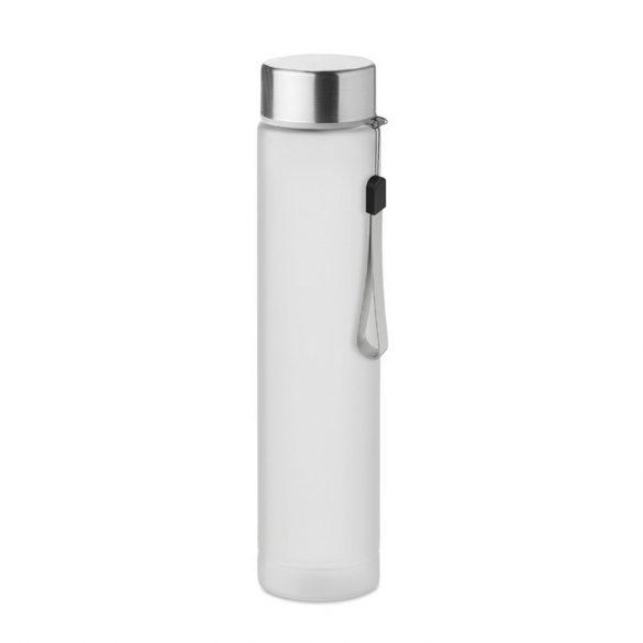 Sticla de voiaj 300 ml, capac din otel inoxidabil, Everestus, UHS01, tritan, alb, saculet de calatorie inclus