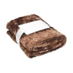 Patura blana artificiala 120x150 cm, lana, Everestus, PA02, maro