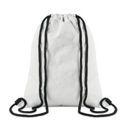 Sac cu cordon din Tyvek, Item with multi-materials, white