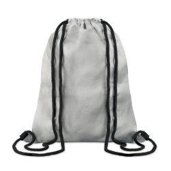 Sac cu cordon din tyvek, bumbac, Everestus, SA1, argintiu, saculet de calatorie si eticheta bagaj incluse